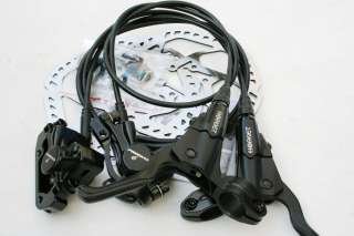 Promax Hornet Hydraulic MTB Disc Brake Set Front and Rear 160mm Black