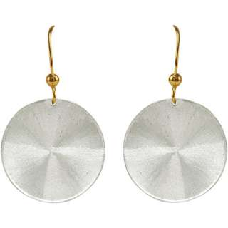 Disc Earring on Sterling Silver and 10kt Gold French Wire Earrings