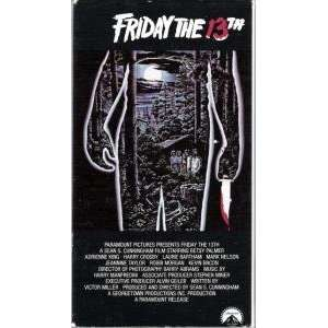 Friday the 13th [VHS] Betsy Palmer, Adrienne King, Harry