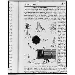 camera,invented by George R Carey,1880,electronic