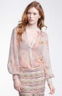 Haute Hippie Sheer Silk Blouse
