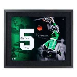 Kevin Garnett Autographed Jersey Numbers Piece