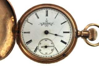 1888 Elgin Pocket Watch Multi Tone 14K Solid Gold Solidarity Hunters
