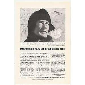 1956 Rear Admiral Richard E Byrd American Petroleum Print