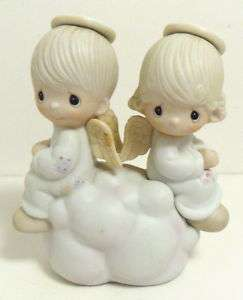 PRECIOUS MOMENTS FIGURINE   BUT LOVE GOES ON FOREVER