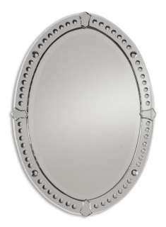MODERN Frameless Oval WALL MIRROR Beveled Bathroom Venetian