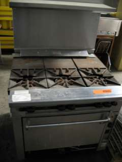 Wolf 3 Burner Gas Stove + DUKE MFG 4 Well Hot Food Steam Table