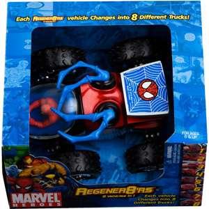 Marvel Regener8rs 124 Scale Spider Man Blue Claw Action Figures