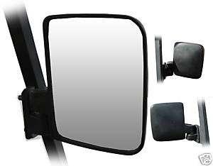 Black side Mirrors Yamaha Club Car EZGO Golf Cart Pair