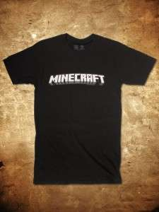 OFFICIAL LICENSED MINECRAFT LOGO BLACK MENS T SHIRT SM 3XL
