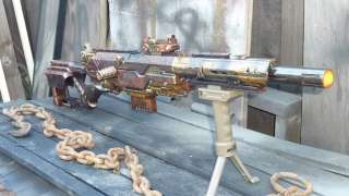 STEAMPUNK NERF SNIPER Rifle Gun breaks down REMOVABE PARTS ammo