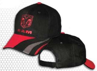 Dodge RAM Logo Hat Cap Black / Red Swirl NWT