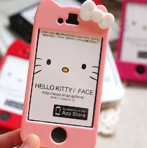 CL Pink Hello Kitty Hard Case Cover Skin for iPhone 4 4S+Free Screen
