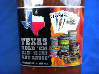 SEALED TEXAS HOLD EM ALL IN NO LIMIT HABANERO HOT SAUCE