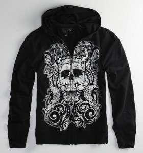 Hurley Absin Skull Mens Hoodie Sweatshirt Jacket NWT S