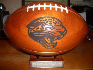 Jacksonville Jaguars SOLID WOOD FOOTBALL NFL GBOW GFG