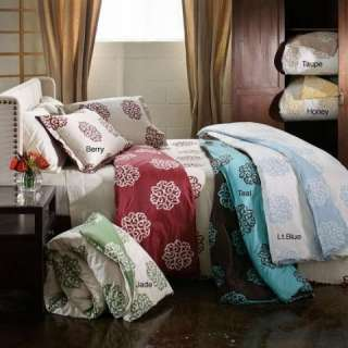 310 Thread Count Teal 3 Piece Full Queen Size Duvet Cover Set