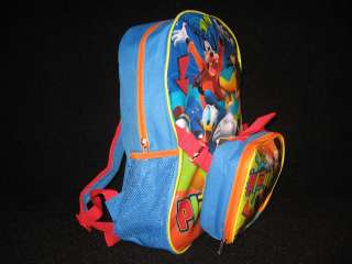 Mouse School Size Backpack and Lunch Box Set Donald Goofy Pluto