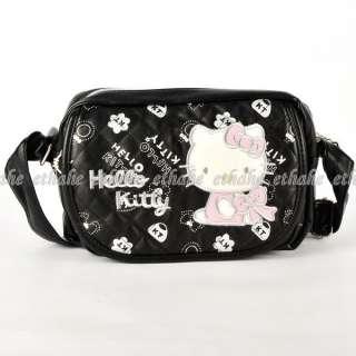 Hello Kitty Mini Crossbody Messenger Bag Black EIGEL9