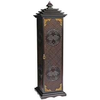 Oriental Furniture Pagoda CD/DVD Stand in Rosewood Furniture