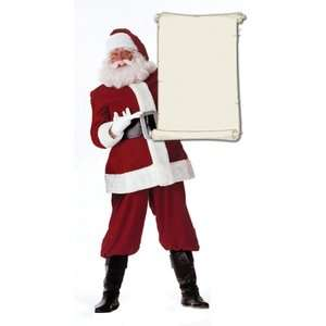 Graphics Santa Claus with Scroll Life Size Cardboard Stand Up Decor