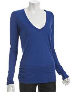 Fluxus supreme cotton v neck loose fit t shirt