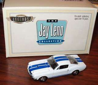 HOT WHEELS LEGENDS SHELBY MUSTANG GT 350 MIB JAY LENO NRFB WOW