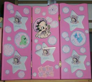 BABY BETTY BOOP Tri fold Nursery PHOTO Picture FRAME