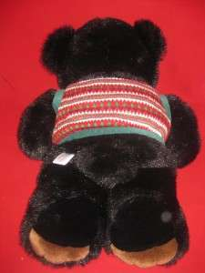 Black Teddy Bear Plush Christmas Vest 1JP3 Stuffed Animal Toy Plushy