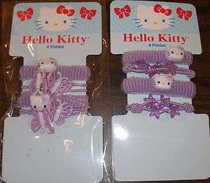 NEW HELLO KITTY PONY TAIL PONYTAIL HOLDER SET PACKAGE HELLO KITTY HAIR