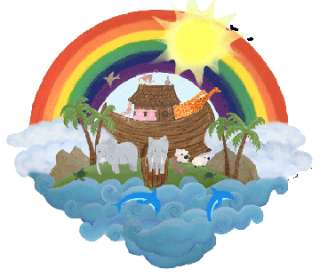 Noahs Ark Wall Mural Kids Baby Nursery Removable New