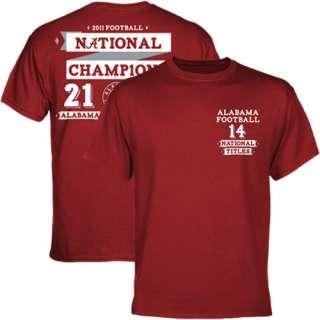 Alabama Crimson Tide 2011 BCS National Champions Score T Shirt