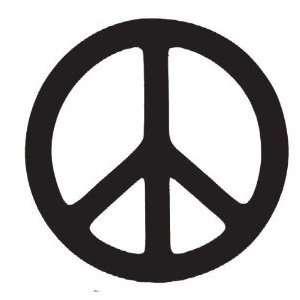 Peace Sign Black Vinyl Car Truck Decal Sticker Set of 6