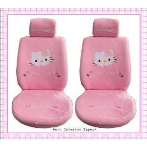 HELLO KITTY UNIVERSAL CAR SEAT COVER SET PINK LUXURY H20X Automotive