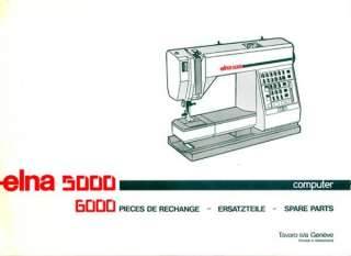 Eln a 5000 / Club Sewing Machine Service Manual and Spare Parts book