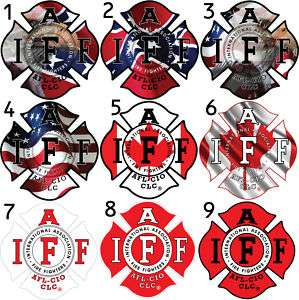 Four   5 IAFF Firefighter Sticker Decals Many Options