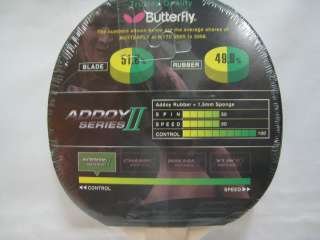 Butterfly Addoy II Series Table Tennis Paddle x 2 pcs