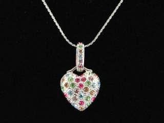 Heart Multi Color Necklace use Swarovski Crystal SN024