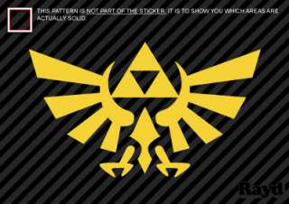 2x) Zelda Triforce Symbol Sticker Decal Die Cut Vinyl