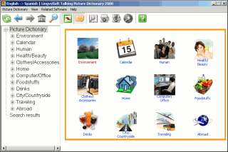 LingvoSoft Talking Picture Dictionary English Spanish