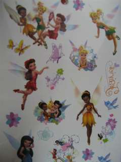 Disney Tinkerbell Tattoos Birthday Party Bag Favour x5
