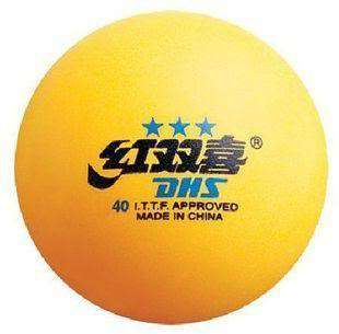 300Pcs●DHS●Double Happiness●3 STAR TABLE TENNIS BALLS