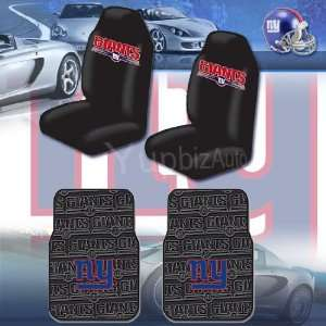 NFL New York Giants Car Seat Covers, Floor Mats Set with
