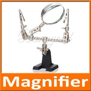 Stand Clamp Clip Helping Magnifying Magnifier Len Glass Tool