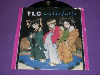 TLC Waterfalls Rare 7 45 RPM Vinyl & Picture Sleeve Lisa Lopes T Boz