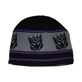 Transformers Autobot and Decepticon Reversible Knit Beanie