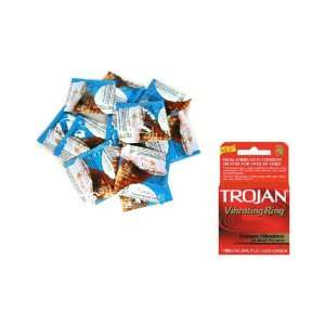 Premium Latex Condoms Lubricated 72 condoms Plus TROJAN VIBRATING RING
